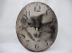 Wolf Affection  Small Oval Clock Z-5018